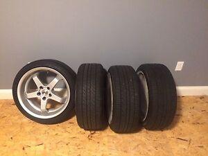"18x8.5"" 5x114.3 +30mm offset. New tires"
