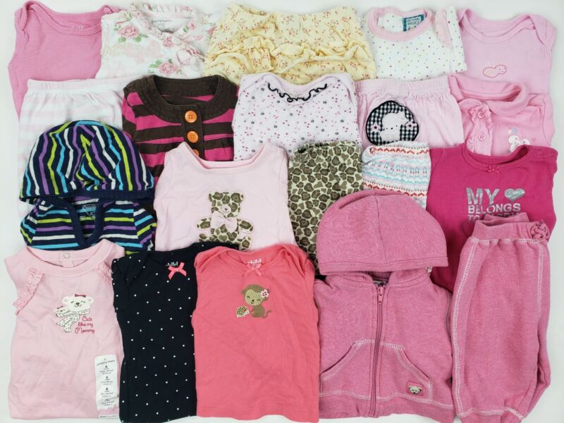 Girls Clothes Lot 3-6 Months Carters Oshkosh Place.. Outfit Dress Hoodie Baby Nb