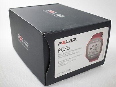 POLAR RCX5 RED HEART RATE MONITOR SPORT RUNNING BIKE EXERCISE FITNESS 90042054 N