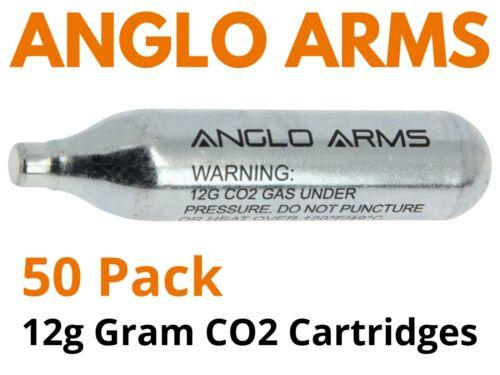 Anglo Arms [50 Pack] 12g Gram CO2 Gas Capsule Cartridge Air Rifle Pistol AirGun