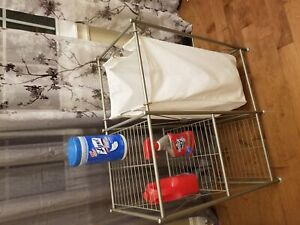 Laundary basket and shelf