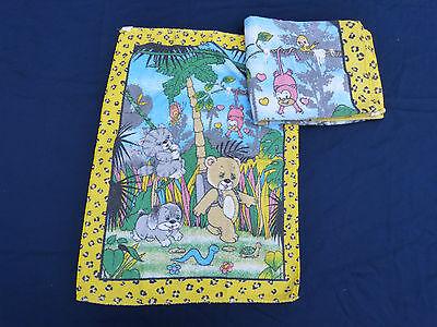 1384. Kinder Handtuch, Handtücher, 2 Stück, Teddy im Dschungel
