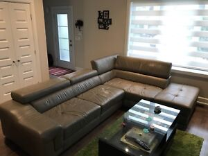 Sectionel en cuir / Sectional Leather Couch