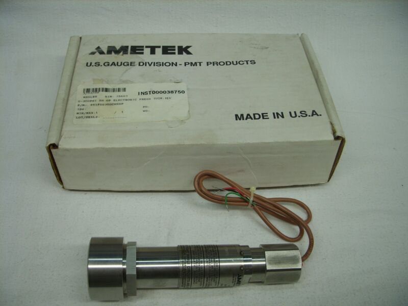 AMETEK - PMT PRESSURE SENSOR TRANSMITTER 0-300 PSI - 851TG0300CHSAP *NOS*