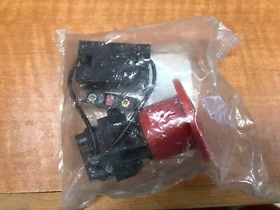 Abb E-stop 60 Mm Push Button Cbk-est6it4r01 With Contacts New In Bag