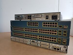 CISCO CCNA CCNP LAB  WS-C3560-48PS-E PoE 3560 2811 1841 ROUTER SWITCH IDEAL LAB