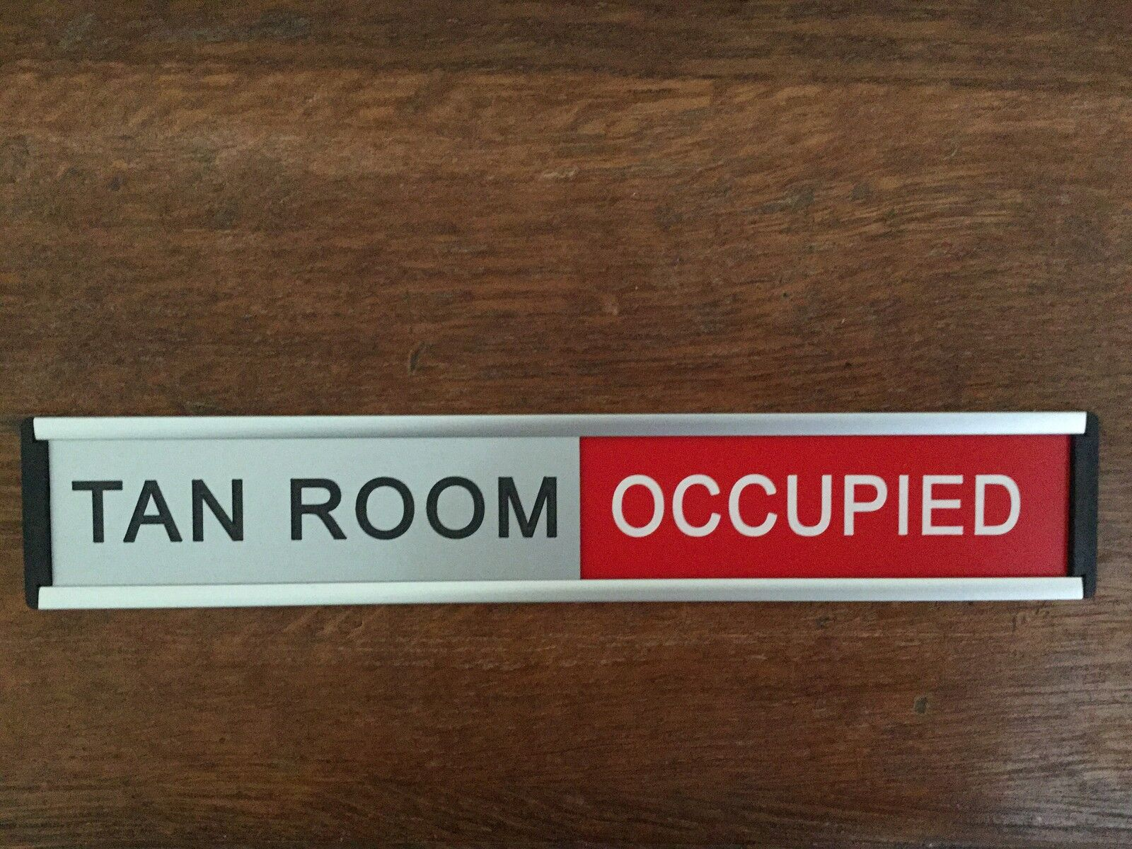 Sliding Door Sign Engraved With Your Own Text Colour Choices
