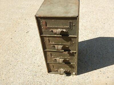 Vintage Small Addressellott Metal Storage Cabinet