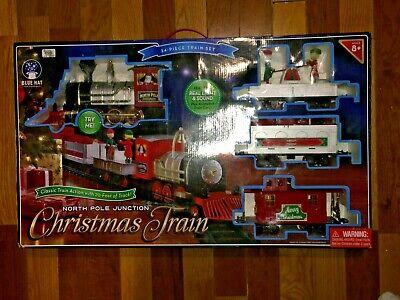 Blue Hat 34 Piece North Pole Junction Christmas Train Set Lights & Sounds