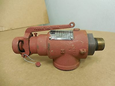 Teledyne Farris Safety Relief Valve 1855-0l 18550l 34 X 1-14 138 Psi