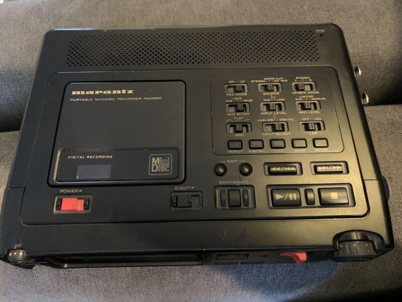 Marantz PMD650 Portable Mini-disc Recorder (Original Owner)