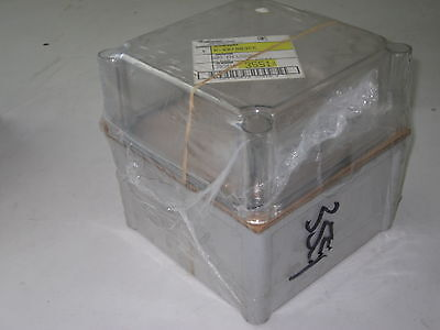 Hoffman A-887ab3cc Abs Plastic Electrical Enclosure W Clear Cover New