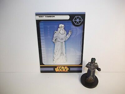 Star Wars Miniatures - Wat Tambor 41/60 + Card - Rare - ROTS
