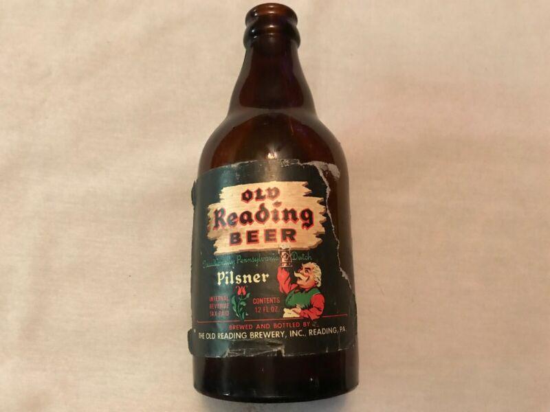 Old Reading Beer Pilsner 1930's Paper Label Bottle, Reading, Pa.