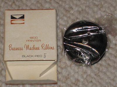"Vintage Black/Red ½"" Victor Business Machine Ribbon 1800 Printer -"