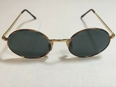 Versace Versus Gold Round Frames Sunglasses Green Lenses E74 58M (Versus Sunglass)