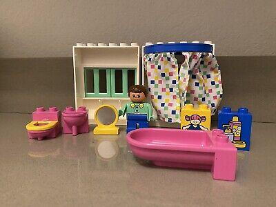 Lego Duplo 2789 Vintage Incomplete Bathroom Set - Pink Yellow Toilet, Sink, etc