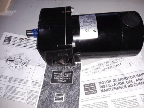 BODINE ELECTRIC GEARMOTOR  42A3BEPM-E4 130 VOLT DC 1/8 HP