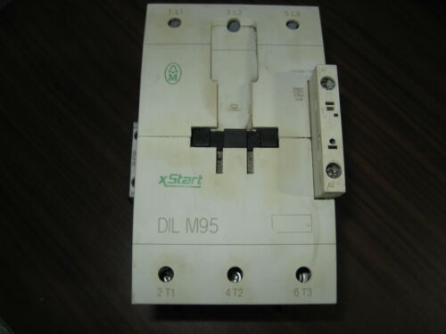 Klockner Moeller DIL M95 Contactor With DIL M1000-XHI Auxiliary Contact (120V)
