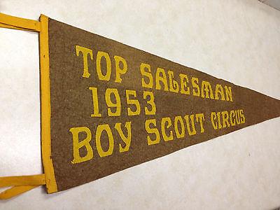 1953 Boy Scout Circus Top Salesman Felt Pennant