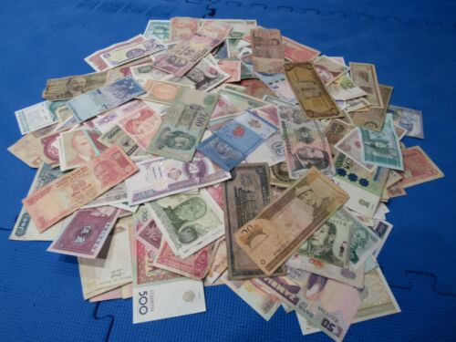 Mix of 25 Different Random Assorted Banknotes Foreign World Paper Money From Lot