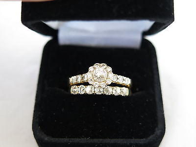 Fantastic Crown of Light 14K Gold & Diamond Wedding Ring Set
