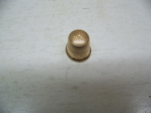 10 KT GOLD Thimble - Size 9? 3.20 GRAMS - Ketcham and McDougall?
