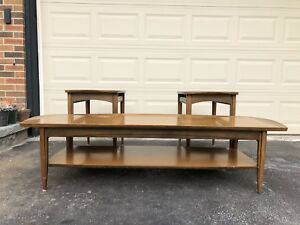 A Mid Century Set (Coffee Table and Side Tables)