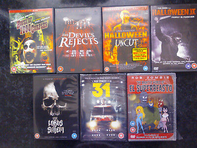 Halloween Rob Zombie 1 (ROB ZOMBIE DVD LOT HOUSE OF 1000 CORPSES DEVIL'S REJECTS HALLOWEEN 1&2 SALEM)