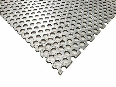 Galvanized Steel Perforated Sheet 0.052 X 24 X 48 14 Holes