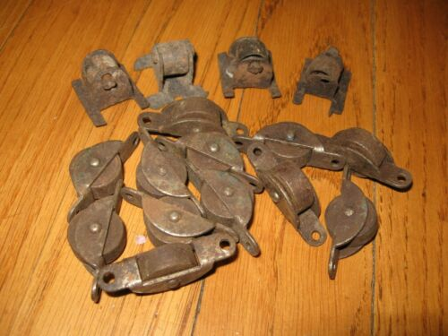 Antique Steamer Trunk Rollers Wheels Lot of 16