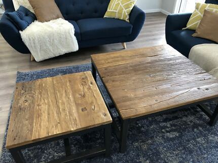 Set of two industrial Freedom coffee tables