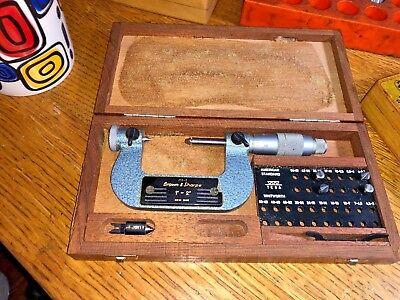 Brown Sharpe Tesa Pitch Thread Micrometer 1 - 2 210-2