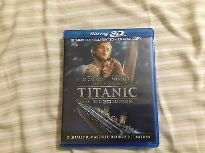 Titanic BLU-RAY 3D (Blu-Ray, 4-Disc Set,3D) Limited 3D Edition. New no Sealed