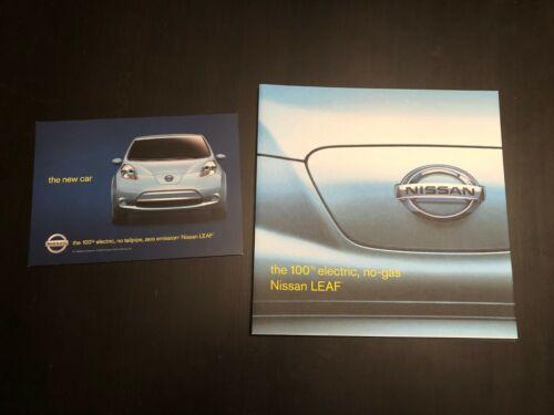 2011 Nissan LEAF Electric Car Brochure / Poster / Card Advertisements