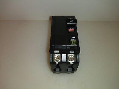Square D Qo245 2 Pole 45 Amp Circuit Breaker Yellow Face