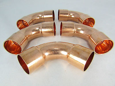 Copper Elbow 1 18 Id- 90 Deg-long Radius For Refrigeration- Ac Lines-5 Pc