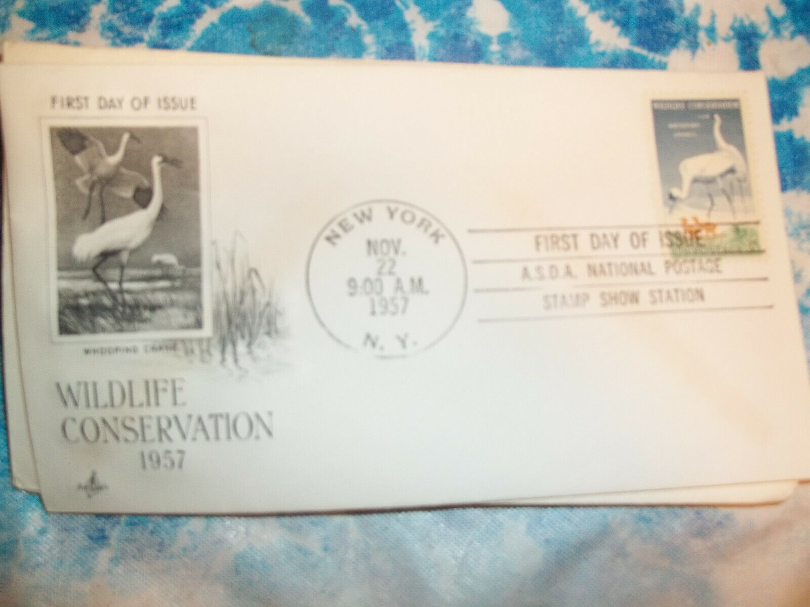 1098 FDC 3c WHOOPING CRANES ARTCRAFT U/A NY HAND CANCEL - $3.00