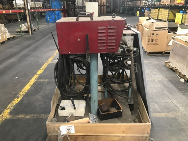 USED 3 Phase 60HZ Stud Welder TRW Nelson Series 4500 MDL 101 77-04-05 on Rollers