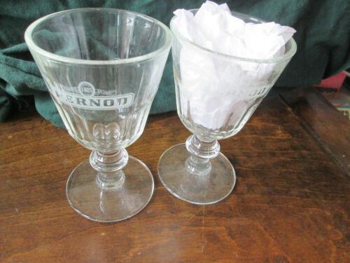 2 PERNOD BEER GLASSES