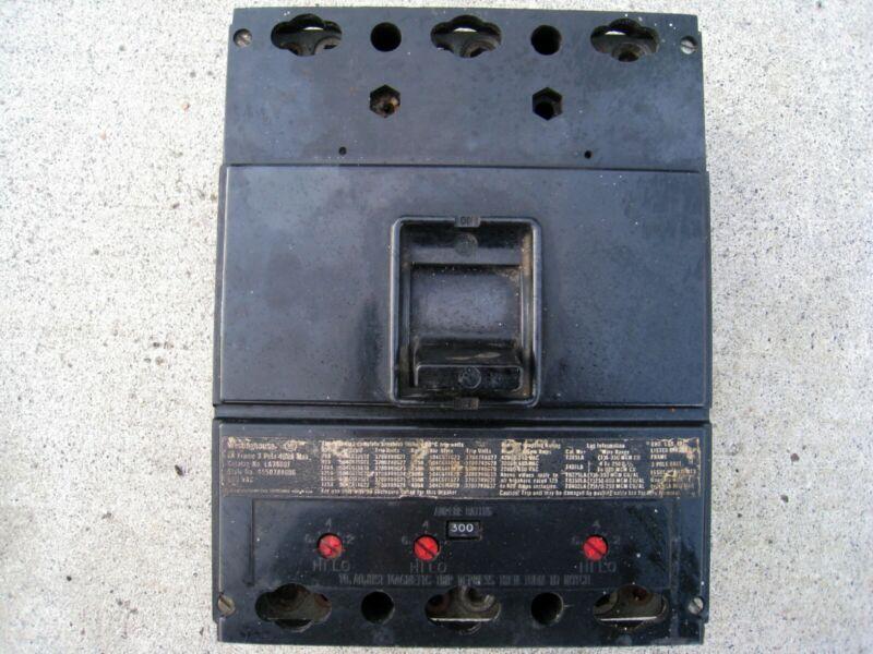 Westinghouse LA3400F, 300 Amp Trip, 600 Volt, Breaker- RECONDITIONED+WARRANTY
