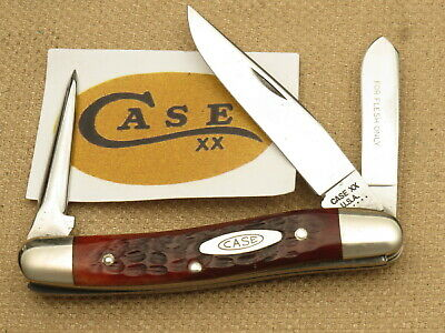 Vintage Case XX USA 6 Dot 1974 6318 Sp Pu Stock Knife Red Bone Near Mint