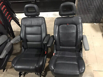 Captain Leather Seats Twin Armrests child booster Camper Motorhome VW T4 T5 Ford