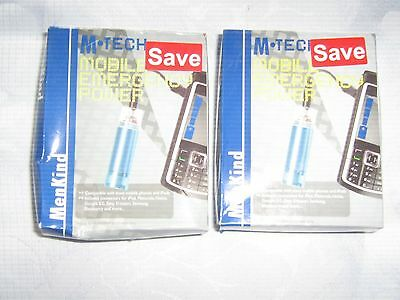 2 X M TECH MOBILE ENERGY POWER STICKS FOR MOBILE PHONES & IPODS BNWT
