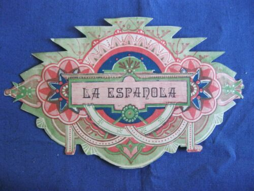 Victorian Trade Card LA ESPANOLA  Olive Oil Label Die Cut 4A