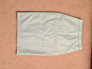 Pale blue/green faux leather skirt