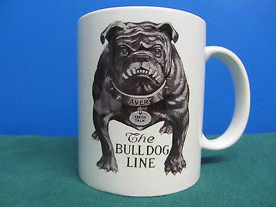 Avery Tractors Bull Dog Logo Grey Coffee Mug