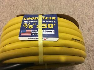 "Brand new Goodyear 50 foot 3/8"" air hose with quick couplers"