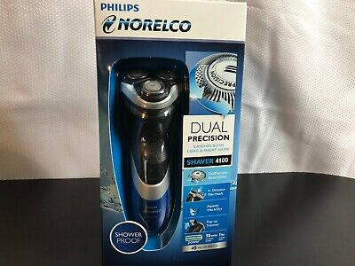 Philips Norelco Cordless Electric Shaver 4100 Blue/Black Aquatec~ New in Box