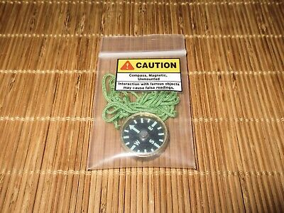 Usgi Sere Mini Compass   Brass   Made In The Usa Tough   Unissued